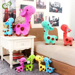 Giraffe Toys Australia - 1pcs New 18 x 7 cm Cute Plush Giraffe Soft Toys Animal Dear Doll Baby Kids Children Birthday Gift WYQ