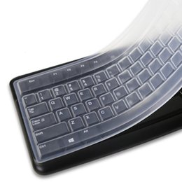 computer dust covers NZ - Portable Transparent Laptop Keyboard Anti-dust Cover Protector For Desktop Computer Silicone Protective Film