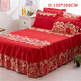 Love Skirts NZ - New Arrival 180*200cm And 150 * 200cm Beautiful Flower Color Printing Love Eternal Red Love Bed Dress Bed Skirt Sheet