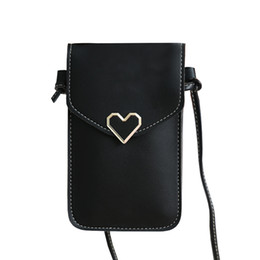 $enCountryForm.capitalKeyWord Australia - Universal Cell Phone Bags for Women PU Leather Shoulder Pocket Wallet Pouch Case Neck Strap for Samsung S10 for IPhone X