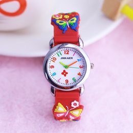 Discount new style boys watches - new style children girls cute flowers butterfly silicone strap quartz watches beauty girls bracelet colorful digital wat