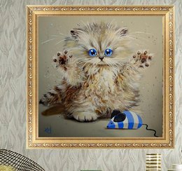 $enCountryForm.capitalKeyWord Australia - The Cat Catch Mice Animal DIY 5D Diamond stitch Round 3D Diamond Stitch Tools Kit diamond mosaic Room Decor
