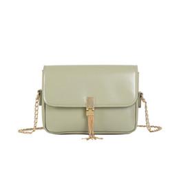 $enCountryForm.capitalKeyWord Australia - Simple Tassel Messenger Bag Fashion Soft Leather Cross Body Bag Chain Small Square Bags high quality women designer handbags #15