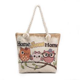 $enCountryForm.capitalKeyWord Canada - good quality 2019 New Owl Printed Women's Casual Tote Female Daily Use Female Shopping Bag Ladies Single Shoulder Handbag Beach