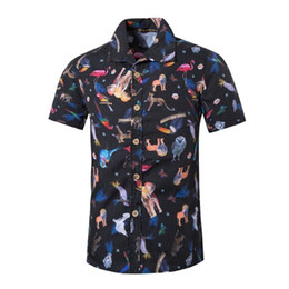 $enCountryForm.capitalKeyWord UK - New Nice Quality Casual Men's Short Sleeve Shirts Animals Print Hawaii Style Polyester Cotton Tee Male Summer Clothing 5XL Men