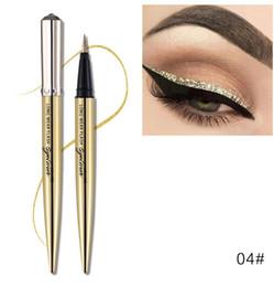 $enCountryForm.capitalKeyWord NZ - Wholesale 5Color Long Lasting Glitter Liquid Eyeliner Pencil Easy To Wear Eye Liner Pen Beauty Makeup Waterproof Best Eye Liner Pen Cosmetic