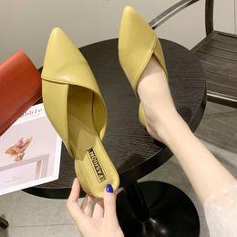 $enCountryForm.capitalKeyWord Australia - Med Slippers Women Summer Square heel Luxury Slides Shoes Socofy Cover Toe Block Designer 2019 Soft Pointed PU Basic Rubber
