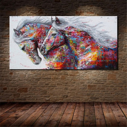 Run Horses Painting Australia - Running Horse,1 Pieces Canvas Prints Wall Art Oil Painting Home Decor (Unframed Framed) .