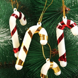$enCountryForm.capitalKeyWord Australia - 18Pcs lot Gold Silver Red Color Christmas Candy Cane Ornaments Festival Party Xmas Tree Hanging Decoration Christmas Decoration