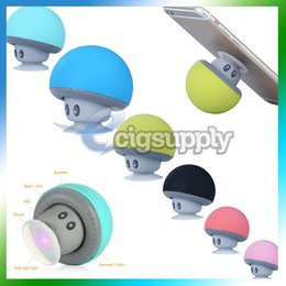 $enCountryForm.capitalKeyWord Australia - Portable Bluetooth Speaker Wireless Handsfree Mushroom Speaker With Sucking Disc Bracket Mini Subwoofer for iPhone Samsung MP3 Pad Tablet PC