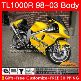 srad fairing yellow NZ - Body For SUZUKI SRAD TL1000R 1998 1999 2000 2001 2002 2003 19HC.83 TL1000 R TL 1000 R TL 1000R 98 99 00 01 02 03 Fairings Kit hot yellow all