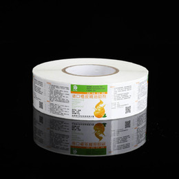 Glossy Paper Roll Australia - Customized roll package medicine paper adhesive sticker label glossy varnishing medicine bottle sealing label printing new custom label