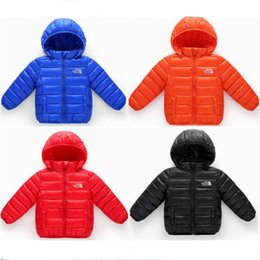 $enCountryForm.capitalKeyWord Australia - 2018 Kids Down Cotton Jackets The North Cotton Padded Hooded Coats for Boys Girls Face NF Brand Children Light Jackets Outwear 1lot 5sets