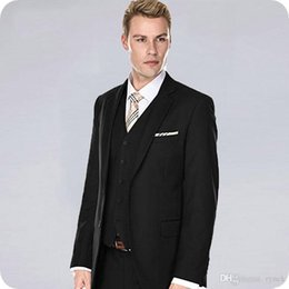 $enCountryForm.capitalKeyWord Australia - New Arrivial Black Men Suits for Wedding Groom Tuxedos 3Piece Formal Business Man Suits Slim Fit Groomsmen Blazer Handsome Costume Homme