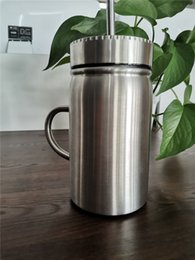 $enCountryForm.capitalKeyWord Australia - 17OZ Stainless Steel Mason jar 17oz Stainless Steel tumbler with lid and straw Coffee beer juice mug mason Cans drinking sippy with handle