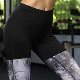 $enCountryForm.capitalKeyWord Australia - Wholetide Nice Ladies Chinese Ink Montage Yoga Bottompants Fashion Tight Sweating Nine Pants Breathable Sport Bottomwear