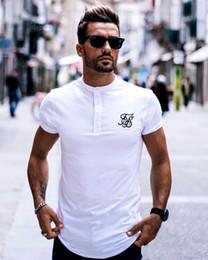 $enCountryForm.capitalKeyWord Australia - Men Brand Fashion Summer Kanye West Sik Silk Men Casual Hip Hop Irregular Cut Button Short Sleeved T-shirts Black White Green S19713