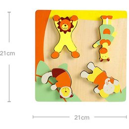 $enCountryForm.capitalKeyWord NZ - Children's Wooden Puzzles Toy Cartoon Animal Matching Game children's Early Educational Intelligence Toys Gifts 1 Set