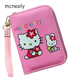 339410fdf High Quality Women's Wallet Lovely Cartoon Hello Kitty Cat Short Leather  Female Small Coin Purse Zipper Card Holder For Girls