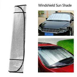$enCountryForm.capitalKeyWord Australia - Auto Car Sun Shade Foldable Metallic Sun Visor Wind Shield Reflective Car Truck Thickened Large Sun Block