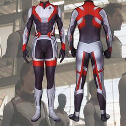 $enCountryForm.capitalKeyWord Australia - 2019 Avengers: Endgame Quantum Suit Jumpsuit Avengers 4 Superhero Zentai Bodysuit Cosplay Costume For Men Women