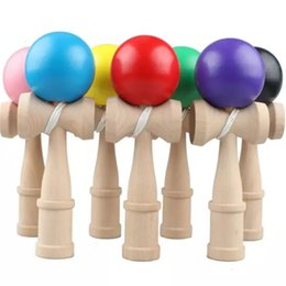 Toys japanese online shopping - 18cm Kid Kendama Ball Japanese Casual Traditional Juggling Game Wood Hand Eye Balance Skill Educational Wooden Novelty Toys Plain Colors