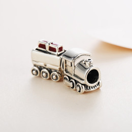 pandora christmas charms Australia - Winter Authentic Real 925 Sterling Silver Christmas Train Pandora Charms Fit Pandora Bracelet