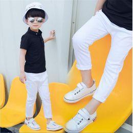 $enCountryForm.capitalKeyWord Australia - Boy's and Girl white trousers 2018 new children's black casual pants boy slim feet red green black 2-10 years