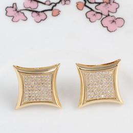$enCountryForm.capitalKeyWord UK - Brand diamond letter c wedding Stud earrings women men Luxury white Zircon earrings gold silver rose Vintage geometric Jewelry wholesale
