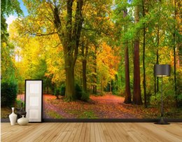 Custom Sized Photo Prints NZ - Custom any size photo Park woods 3D mural landscape background wall beautiful scenery wallpapers
