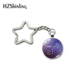 $enCountryForm.capitalKeyWord Australia - 2019 New Nebula Galaxy Zodiac Signs Star Keychains Dazzling Stars Horoscope Sign Handmade Jewelry Gifts for Children
