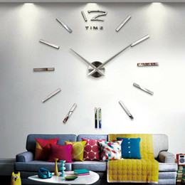 Digital clock numbers online shopping - New Wall Clock Modern Design DIY Analog D Mirror Surface Small Number Wall Clock Europe Acrylic Sticker Home Decor Dropship