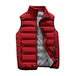 vest model men UK - New Men's Cotton Vest Autumn & Winter Couple Models Thickening Keep Warm Cotton Men Sleeveless Vest Jacket Waistcoat Mens Homme