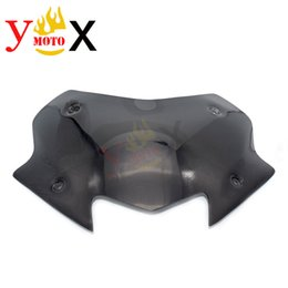 motorcycle wind glasses 2020 - Dark Smoke Maxi Scooter TMAX530 Motorcycle Windscreen Windshield Wind Glass Deflector For T-MAX530 DX SX 2017 2018 17 18