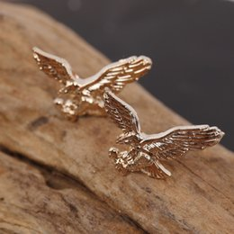 $enCountryForm.capitalKeyWord Australia - 12pairs=24 Pcs lot Brooches Fashion Unisex Jewelry Eagle Animal Brooches Golden Silver Birds Suit Lapel Pins Bulk Wholesale J 190509