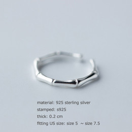 Discount 925 sterling silver jewerly set Hot New teenage fashion ring 925 sterling silver bamboo bone rings unique silver bone shape ring high quality cheap jewerly