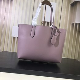 $enCountryForm.capitalKeyWord NZ - nude purple pink color Women Shoulder Bag with a clutch Wallet Genuine Leather Shopping Tote Full Colors Interior high quality Good Price