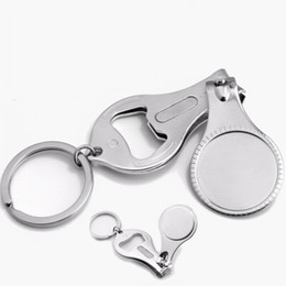 $enCountryForm.capitalKeyWord Canada - Wholesale 100PCS Metal Multifunction Nail Clipper Key chains Nail Cutter Bottle Opener Keyrings Gifts,DHL Free Shipping