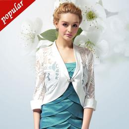 $enCountryForm.capitalKeyWord Australia - Women Small Shawl Patchwork Lace Short Jackets Boleros Spring Summer Ol Style Rhinestone Button Hollow Out Cardigan W370