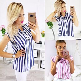 Sleeveless Shirts Cap Australia - Fashion Women Summer Vest Tops Sleeveless Shirt Blouse Casual Tops Striped Women Clothes Fashion 2018