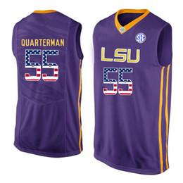 e5d41e590f2 Mens Tim Quarterman Jersey Custom LSU Tigers College Basketball Jerseys  Fashion USA Flag High Quality Stitched Size S-XXL