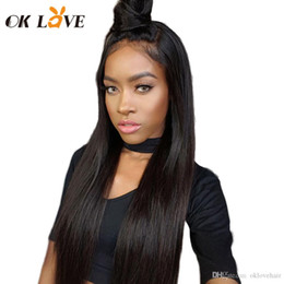 $enCountryForm.capitalKeyWord Australia - OKLove Straight Indian Full Lace Human Hair Wigs For Women Remy Hair Wig With Baby Hair Natural Hairline Full End