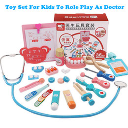 Role Play Toys Australia - Toy Set For Kids To Role Play As Doctor baby's gift Wooden Toys Doctor Kit Set