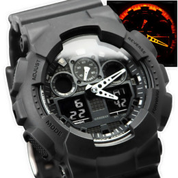 g shock black red watch 2019 - Newly Arrived Mens Designer watches LED Digital Outdoor Waterproof G Style Shock Watch wholesale day date watch With Box