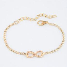 $enCountryForm.capitalKeyWord Australia - New Fashion Cheap Infinity Charm Chain Heart Bracelet For Women Wedding Jewelry Wholesale Minimalist Bangles