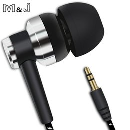 Cloth Wired Earphone Australia - M&J J10 MP3 MP4 Wiring Subwoofer Headset Ear Braided Rope Wire Cloth Rope Earplug Noise Isolating Earphone Handfree
