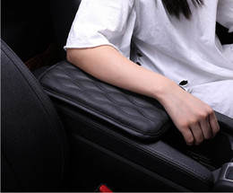 Gray console online shopping - Soft Leather Car Armrest Pad Mat Seat Central Console Cover Car Interior Accessories Universal Size Waterproof
