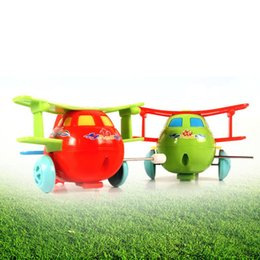 wind up toy springs 2019 - toy 1PC Kids Toys Cartoon Plastic Airplane Model Wind Up Toys Running Clockwork Spring Toy for Children Gift Random Colo