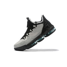 youth kids basketball shoes UK - Mens lebron 16 low basketball shoes Clear Jade Wolf Grey Promise Black Multi Green Camo youth kids cheap new lebrons sneakers boots with box