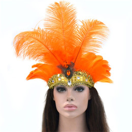 Floating mask online shopping - 9 Colors Silver Sequined Party Headwear Carnival Masquerade Feather Headdress Brazil Rio Cuba Carnival Float Mask